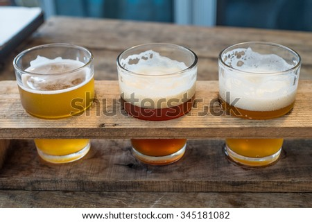 Craft beer in the glass - stock photo