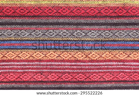 Craft cotton wave pattern - stock photo