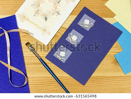 Craft greeting card income hobbies home stock photo royalty free craft greeting card income from hobbies home based business m4hsunfo