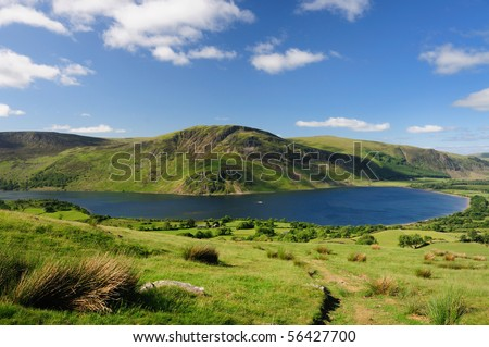 Crag Fell and Ennerdale, English Lake District - stock photo