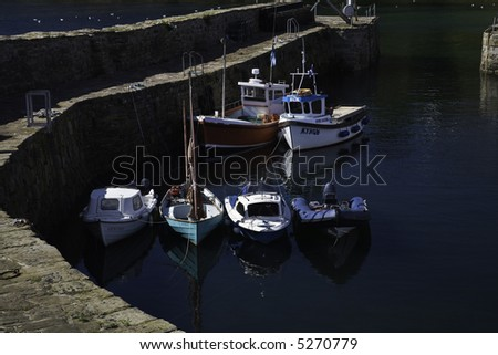 Crail Harbour, Fife, Scotland - stock photo