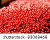 Cranberries abstract natural full frame background - stock photo