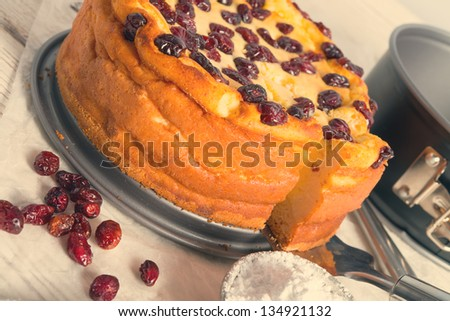Cranberry Cheesecake - vintage effect