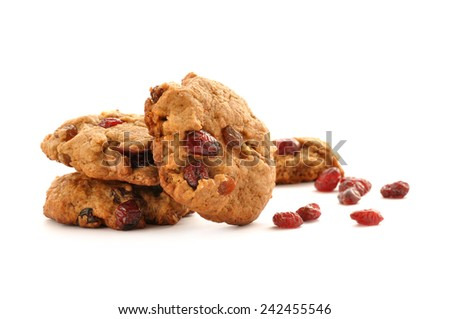 Cranberry Cookie - stock photo
