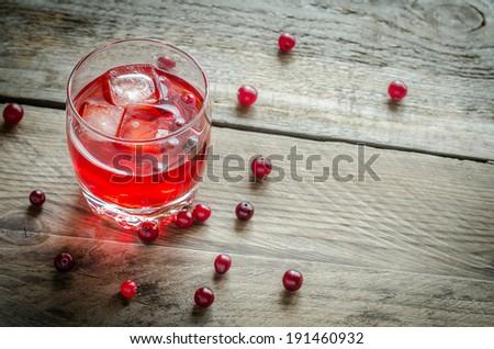 Cranberry juice - stock photo