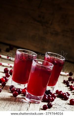 Cranberry juice, selective focus - stock photo