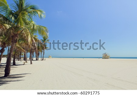 Crandon Park Beach in Miami's Key Biscayne - stock photo