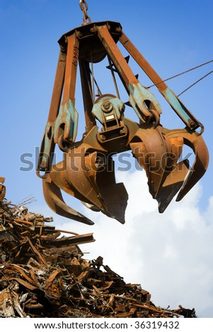 crane grabber - stock photo