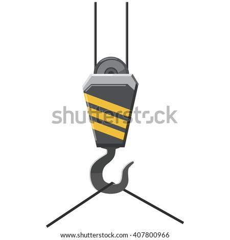 Crane hook icon - stock photo