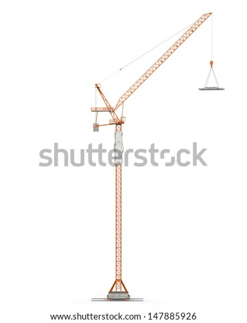 Crane Tower Isolated - stock photo