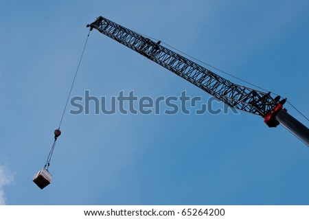 Crane with a load