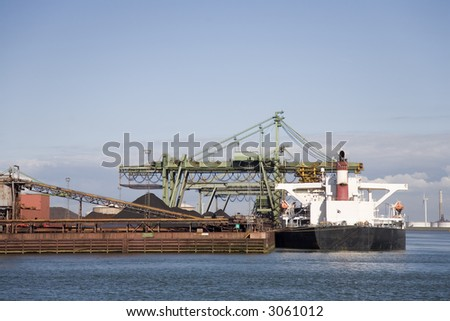 Cranes and carriers 4 - stock photo
