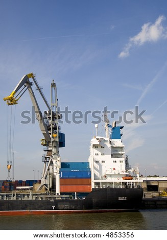 Cranes and carriers 12 - stock photo