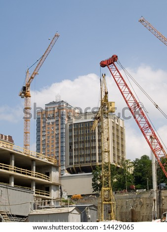 Cranes at the construction site