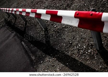 Crash Barrier - stock photo