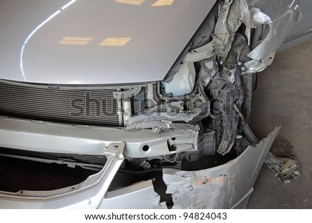 crash car accident - stock photo