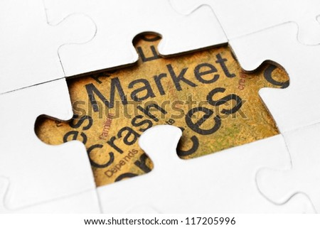Crash market - stock photo