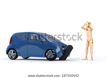 Crash Test Dummy After the Crash II - stock photo