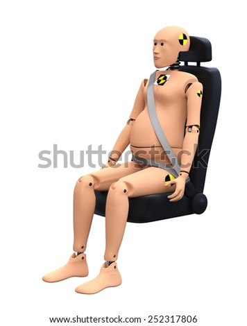 Crash Test Dummy Female Pregnant. Safety Concept - stock photo