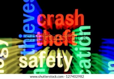 Crash theft safety - stock photo