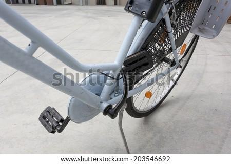 crashed bike - stock photo