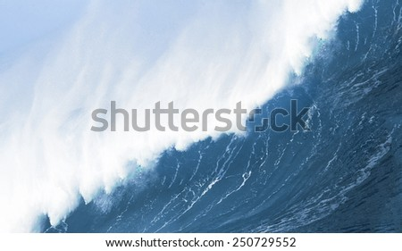 crashing wave action close up - stock photo