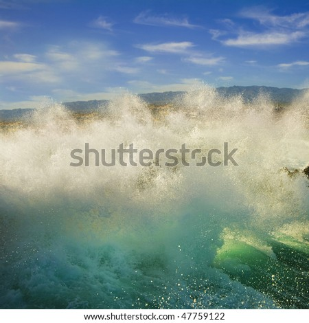 Crashing Waves - stock photo