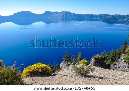 Crater Lake National Park, Oregon, USA - stock photo