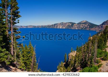 Crater Lake Nationalpark (Oregon) - stock photo
