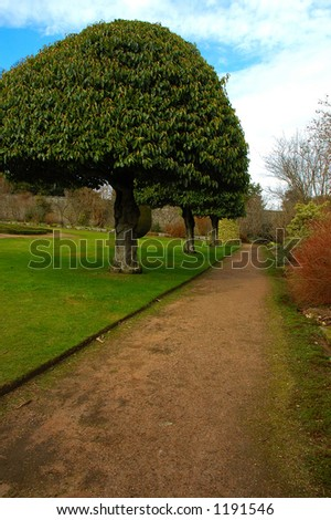 Crathes Castle and Garden - stock photo