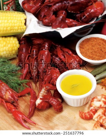 Crayfish Dinner - stock photo