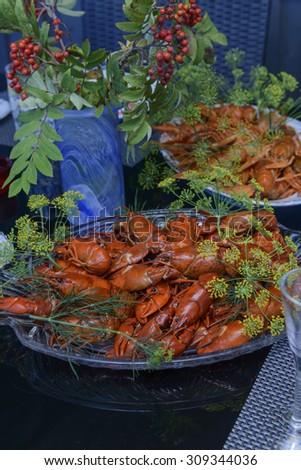 Crayfish party - stock photo
