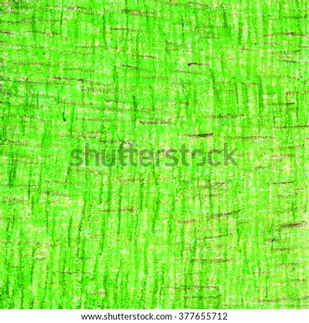Crayon abstract stroke hand drawn bright colorful green  background pattern