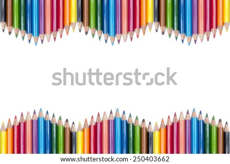 crayon pencil on white background - stock photo