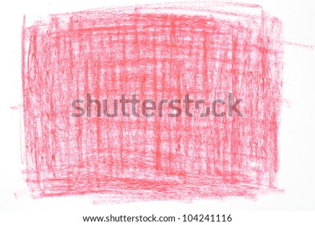 Crayon scribble background in red tones. - stock photo