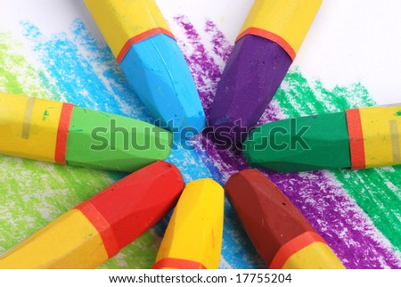 crayons - stock photo