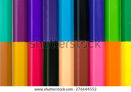 Crayons. Colored Pencils. colored pencils on white background - stock photo