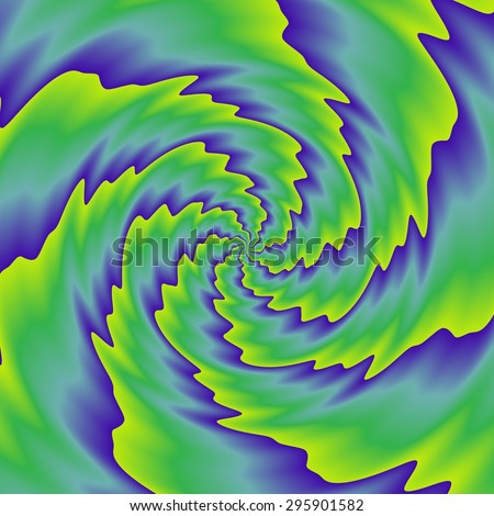 Crazy and funny abstract spirals in amazing colors - stock photo