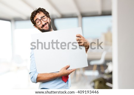 crazy businessman happy expression