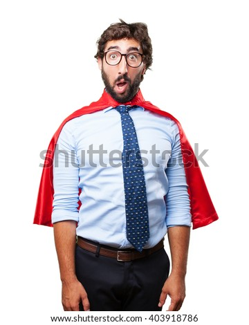 crazy businessman surprised expression