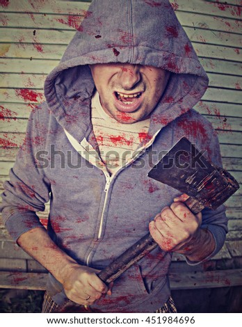 Crazy killer with an ax.