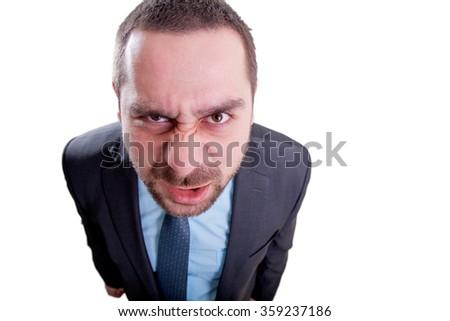 Crazy mad man - stock photo