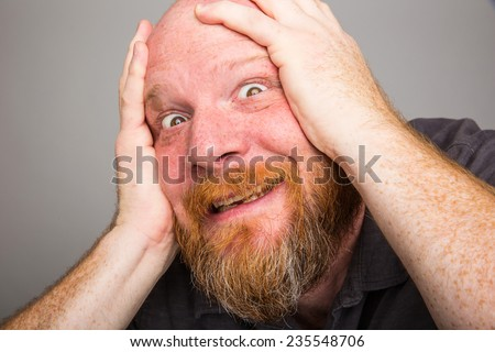 crazy man - stock photo