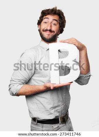 crazy man with a letter