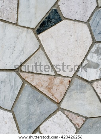 Crazy paving stone for background etc. Assorted. - stock photo