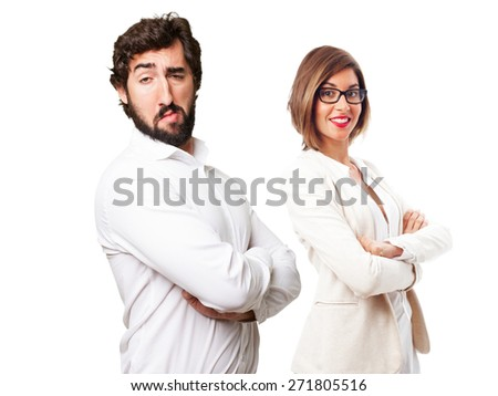crazy proud fool man - stock photo
