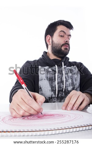 Crazy young student - stock photo