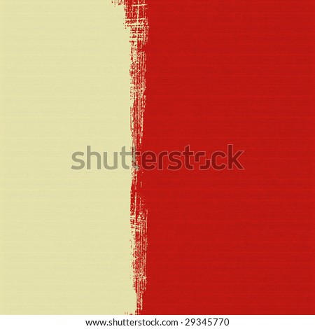 cream box  on red ribbed paper background - stock photo