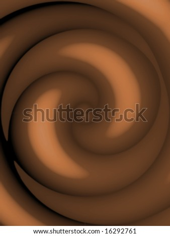 Creamy dark chocolate swirl texture - so rich and smooth.  This also works as pudding, frosting, coffee, or hot cocoa. - stock photo