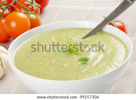 Creamy vegetables soup